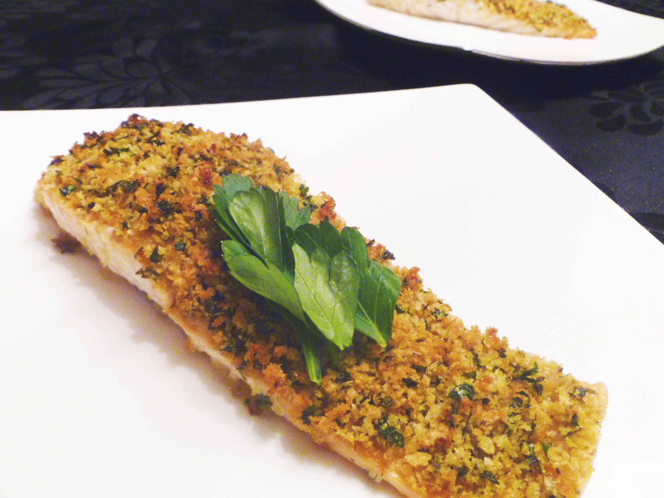 Roasted Panko Crusted Salmon - This Happy Mommy