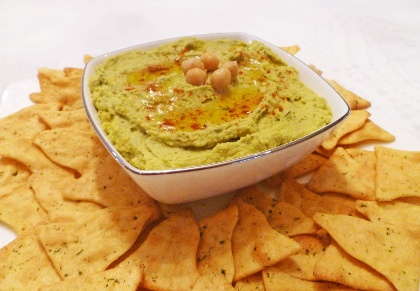 Avocado Basil Hummus - This Happy Mommy